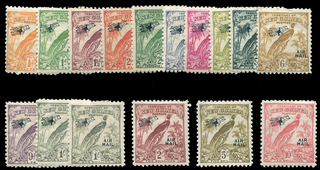 1932 34 Airpost 1 2p 10sh With Additional 1sh Value Hinged 6p Toned Perf Catalog C28 42 Price 15000 Approximately 11838 Or EUR13132